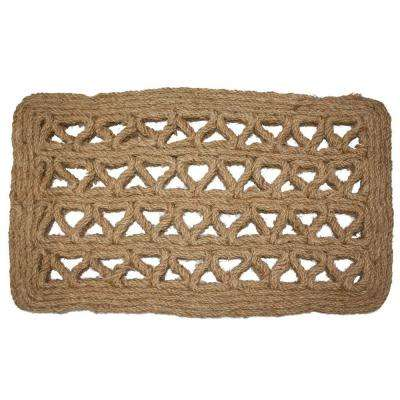 Chain Rectangle Woven 18 in. x 30 in. Coir Door Mat