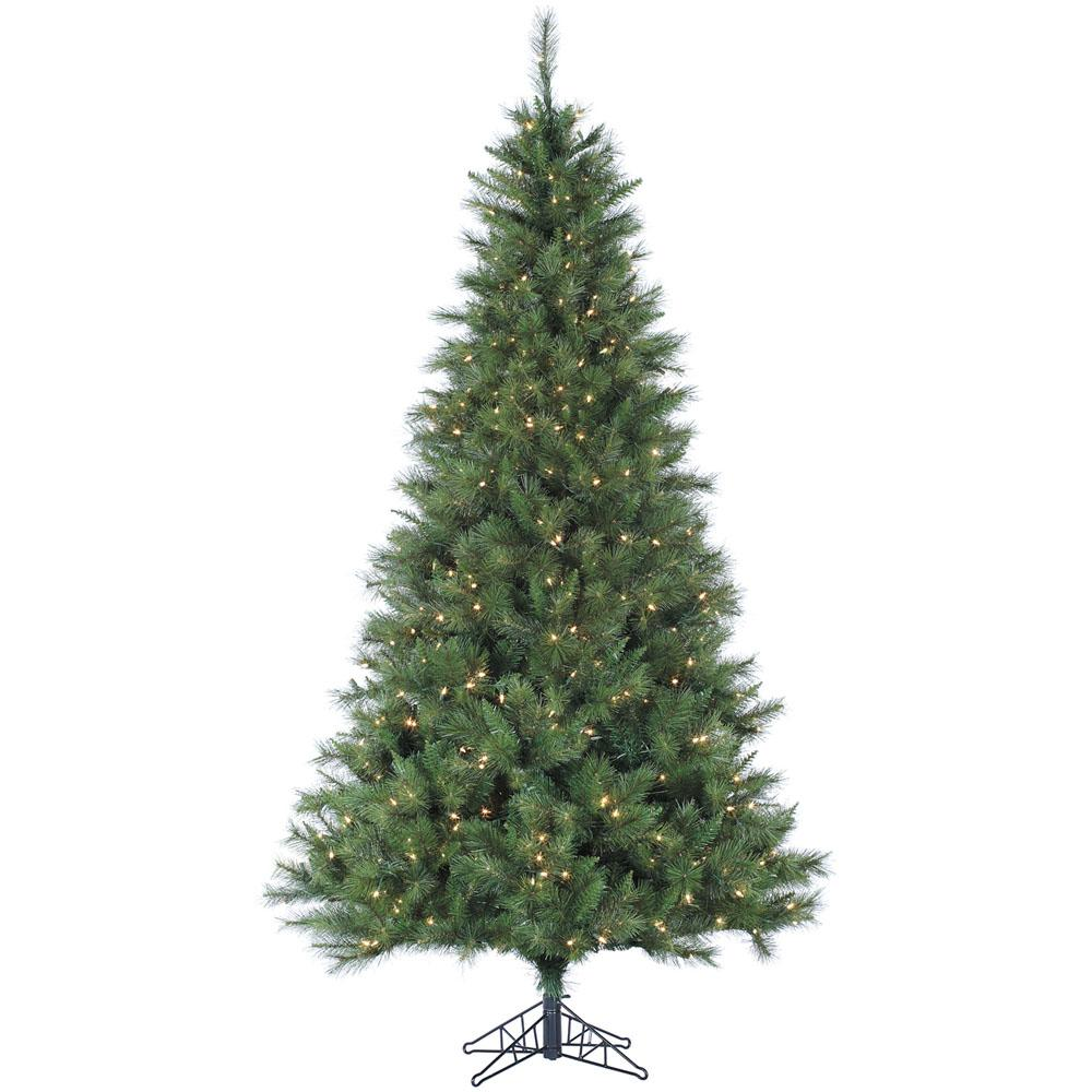 Pre Lit Canyon Pine Artificial Christmas Tree With 400