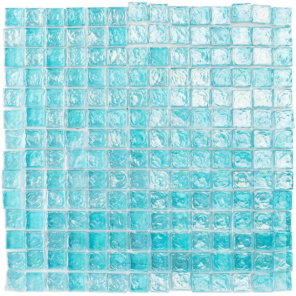 Splashback Tile Latin Beryl Square Glass Floor and Wall Tile - 3 in ...