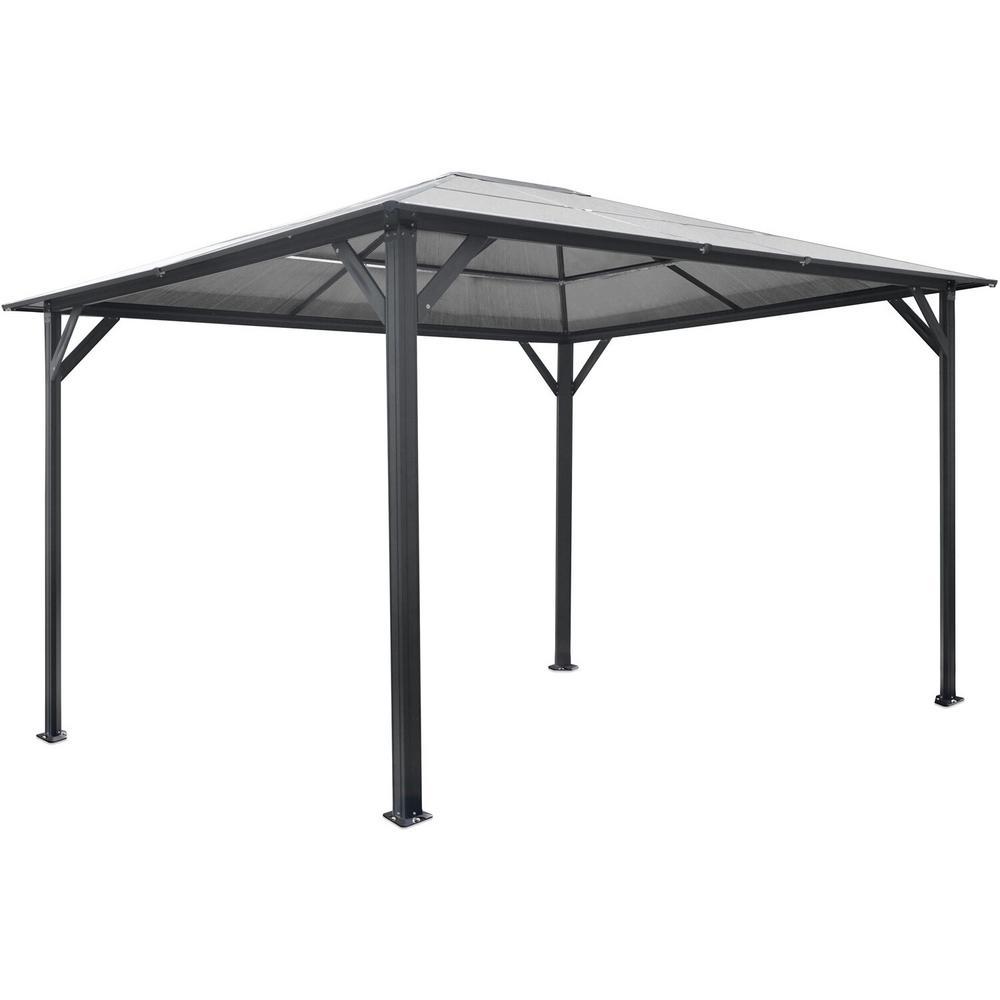13 ft. x 10 ft. Aluminum Hardtop Gazebo with Polycarbonate Roof Panels