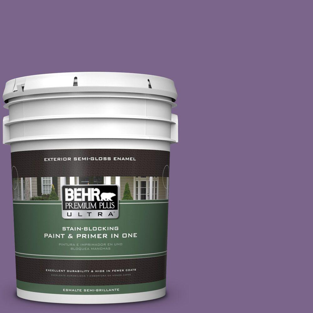 5-gal. #M570-6 Notorious Semi-Gloss Enamel Exterior Paint