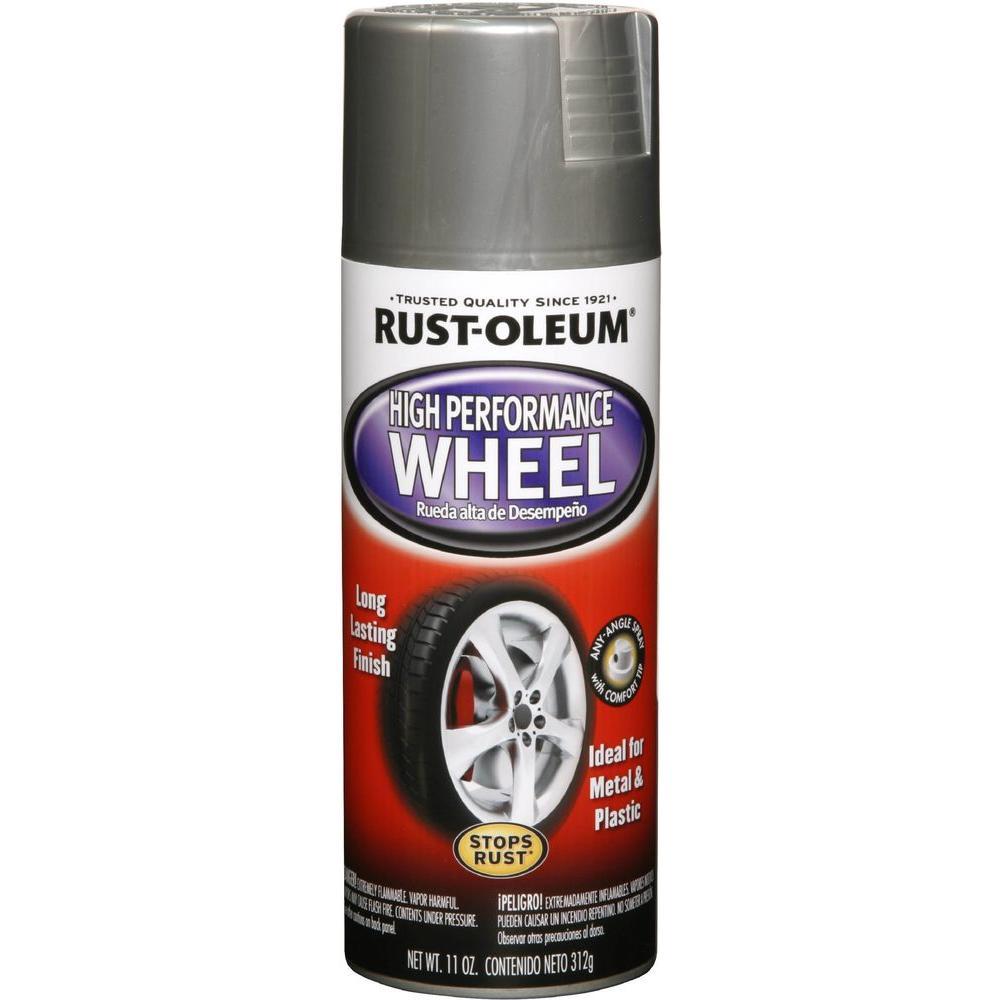 rust oleum automotive 11 oz high performance wheel steel