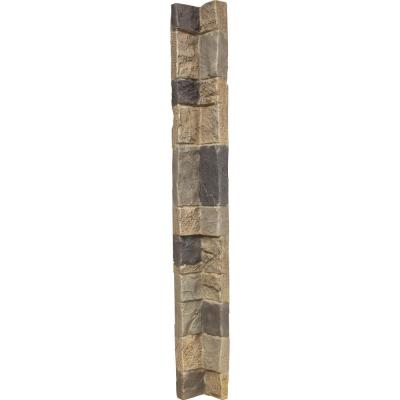 3 in. x 48 in. Universal Inside Corner for Stonewall Faux Stone Siding Panels