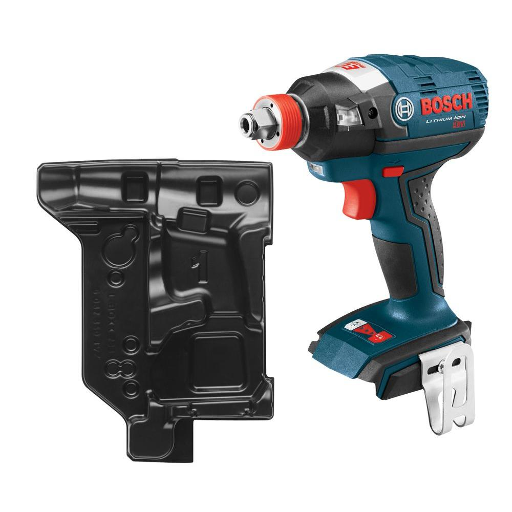 Bosch 18-Volt Lithium-Ion Cordless 1/4 in. Hex and 1/2 in. Square Drive EC Brushless Socket Ready Impact Driver