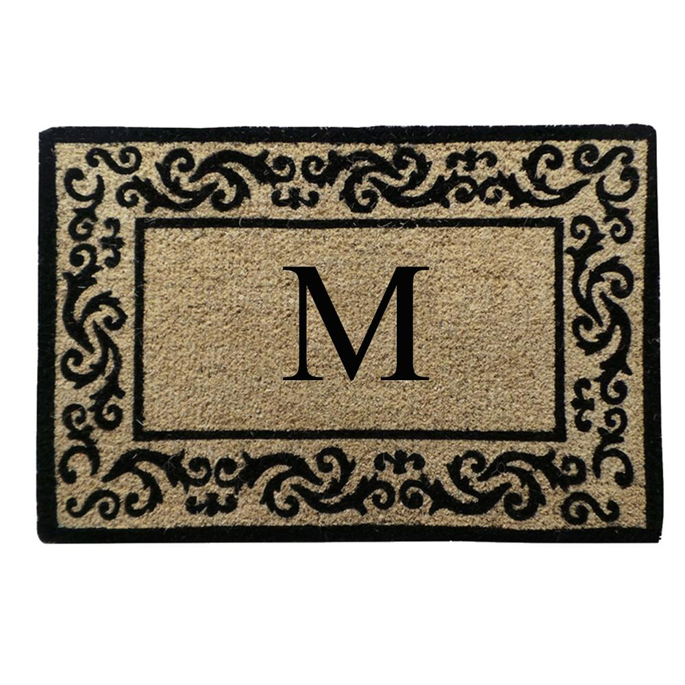 Decorating monogrammed door mats photos : A1HC First Impression Hand-Crafted Decorative Border Filigree 24 ...