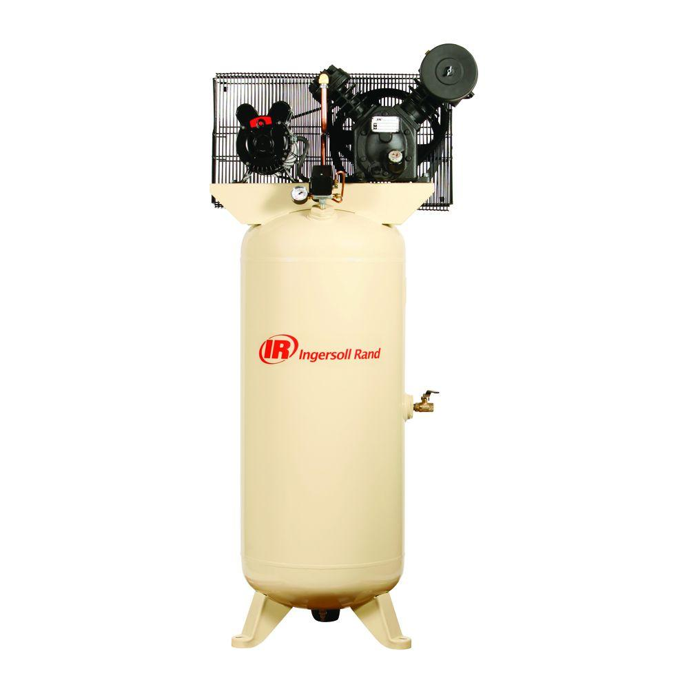 Ingersoll Rand Type 30 Reciprocating 60 Gal. 5 HP Electric 230-Volt 3 Phase Air Compressor