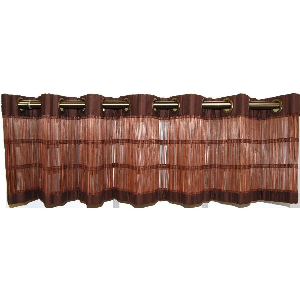 Versailles Home Fashions 72 in. x 12 in. Bamboo Espresso Valance-DISCONTINUED