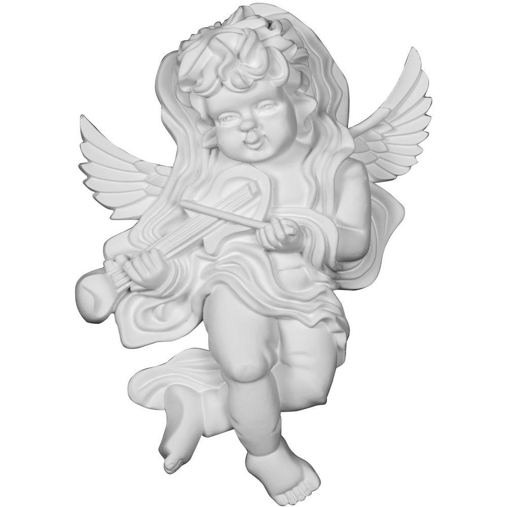 4 in. x 9-1/4 in. x 13-3/8 in. Polyurethane Classic Angel Left Onlay