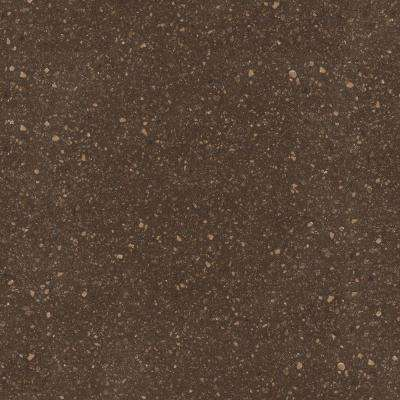 2 in. Solid Surface Countertop Sample in Cocoa Brown