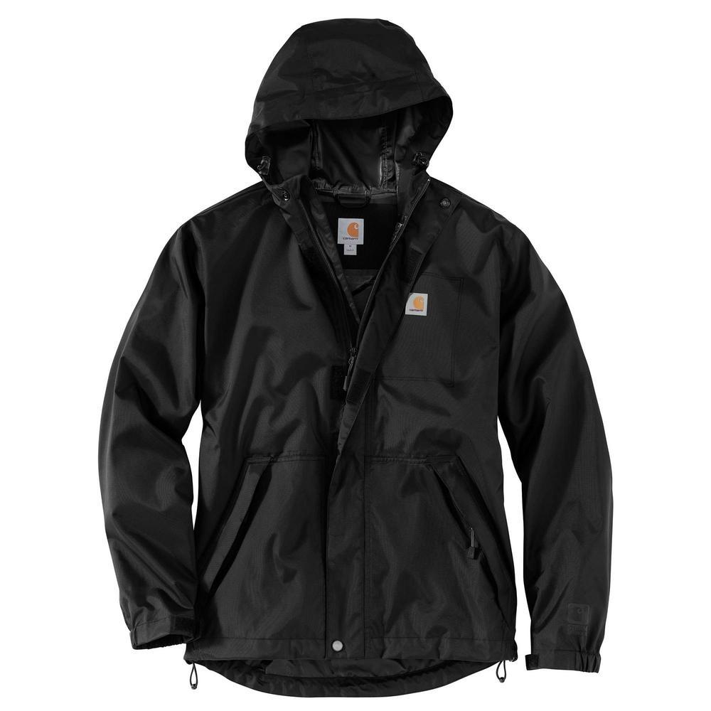 035a31c141658 Carhartt Men's Large Black Nylon Dry Harbor Jacket-103510-001 - The ...