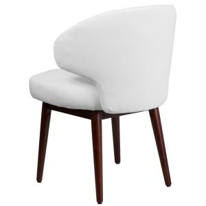 Amazing Flash Furniture Comfort Back Series White Leather Reception Caraccident5 Cool Chair Designs And Ideas Caraccident5Info