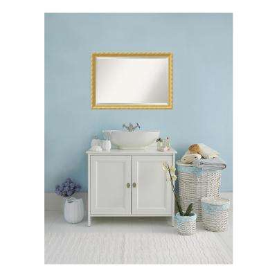 Versailles Antique Gold Wood 40 in. W x 28 in. H Single Traditional Bathroom Vanity Mirror