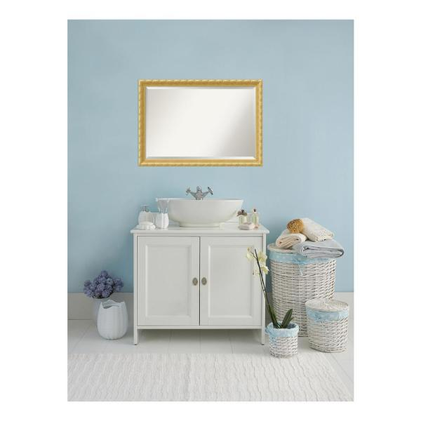 Amanti Art Versailles 40 In W X 28 In H Framed Rectangular Beveled Edge Bathroom Vanity Mirror In Antique Gold Dsw3941618 The Home Depot