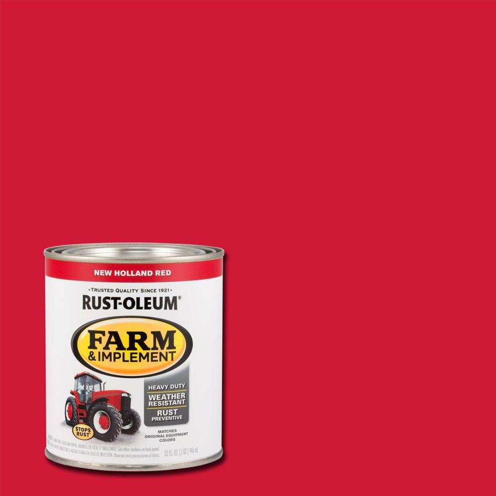 1 qt. Farm and Implement New Holland Red Paint (Case of