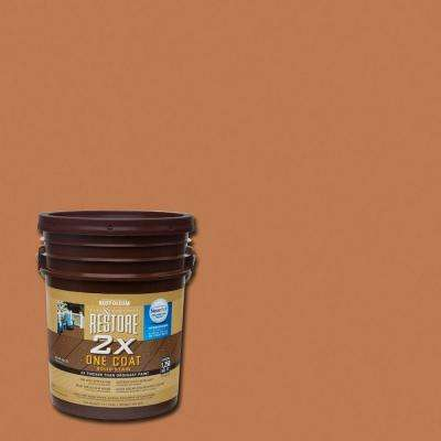 5 gal. 2X Cedartone Solid Deck Stain with NeverWet