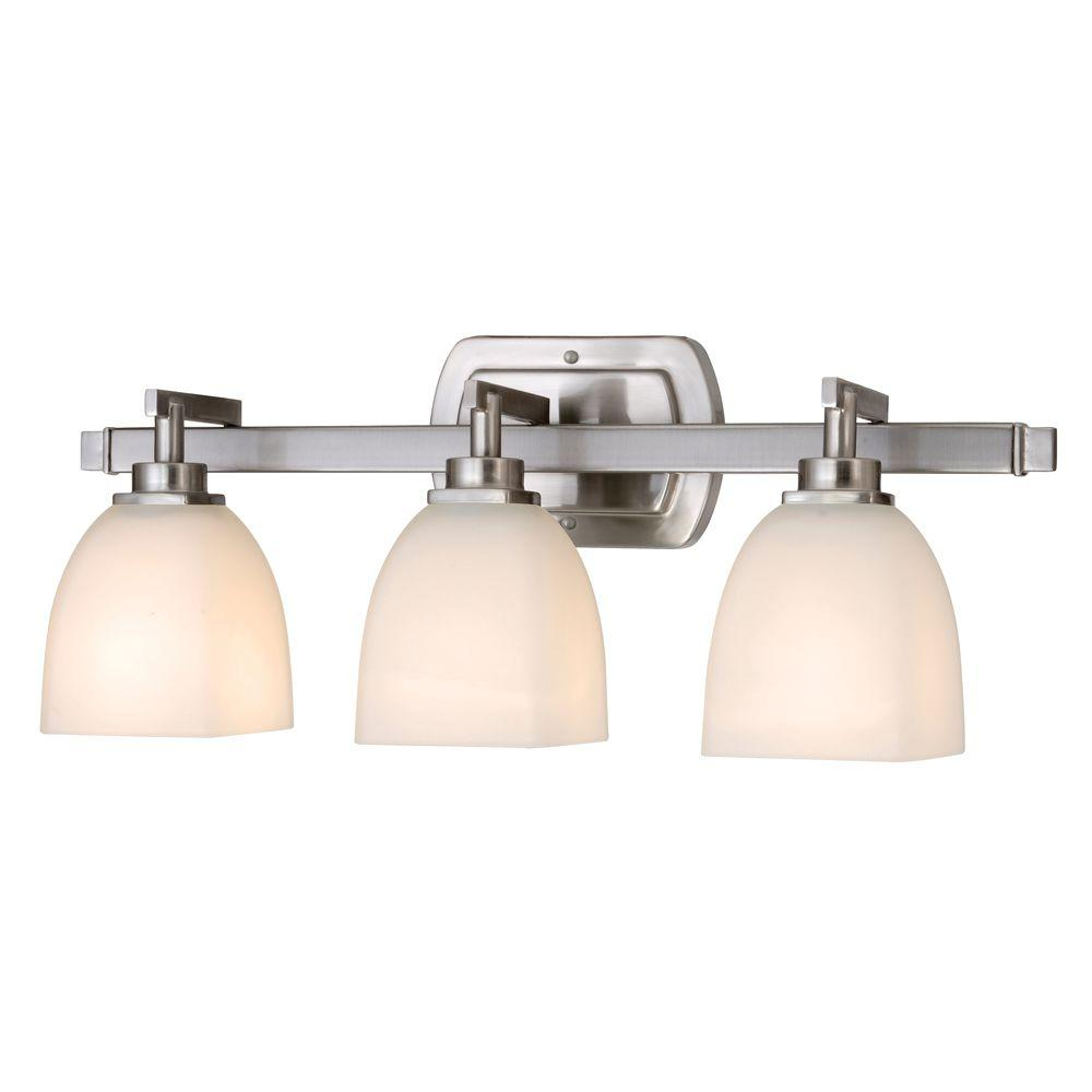 home depot bathroom light bars world imports galway bath collection 3 light satin nickel 23336