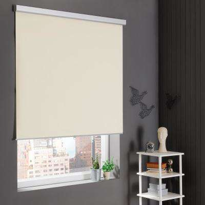 Cream Cordless Stain Resistant Blackout Roller Shades 72 in. W x 78 in. L