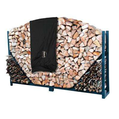 4 ft. Heavy-Duty Firewood Log Rack with Cover