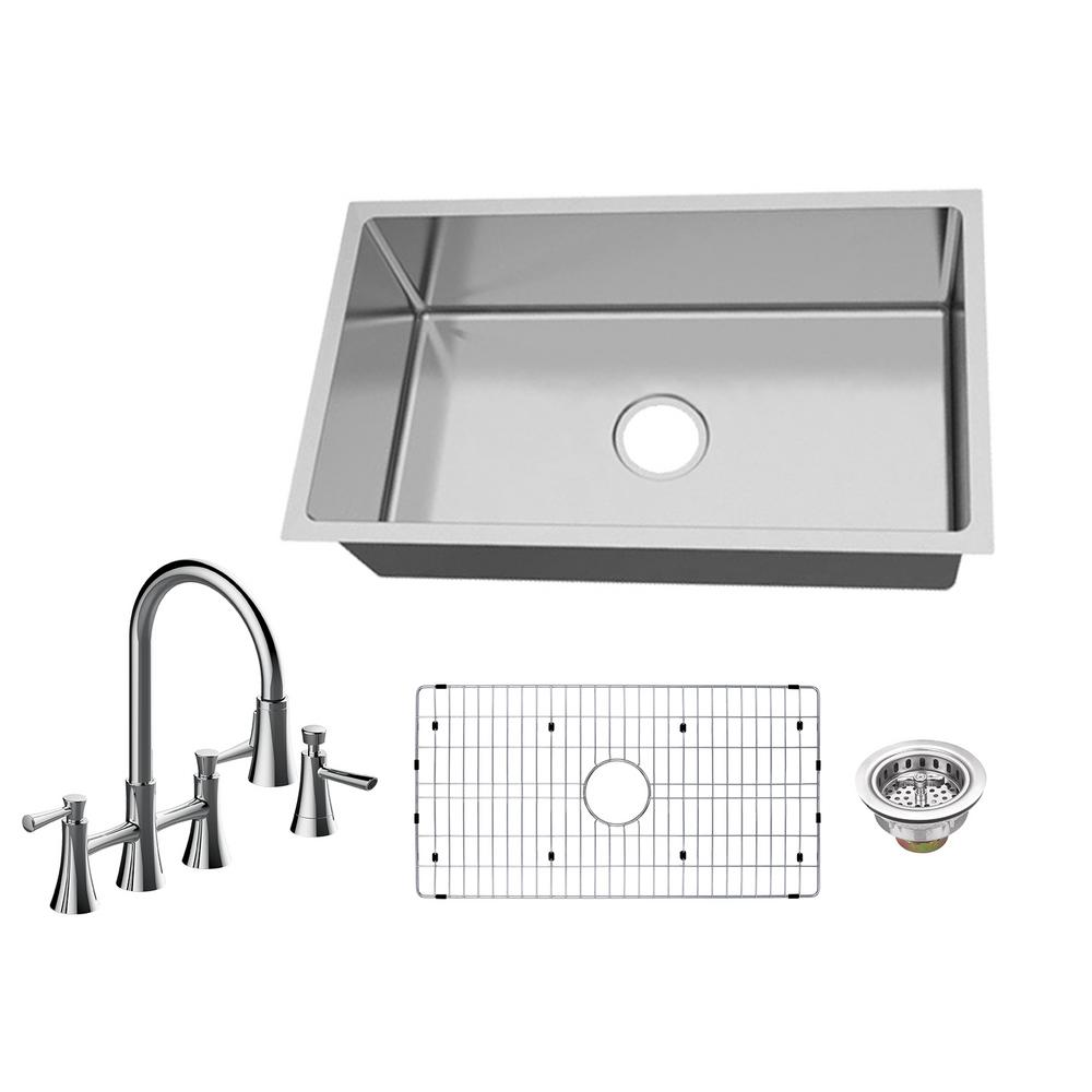 Glacier Bay All In One Undermount 18 Gauge Stainless Steel 31 In