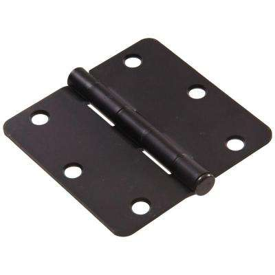 3 in. Oil-Rubbed Bronze Residential Door Hinge with 1/4 in. Round Corner Removable Pin Full Mortise (9-Pack)