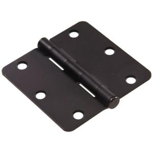 The Hillman Group 3 inch Oil-Rubbed Bronze Residential Door Hinge with 1/4 inch... by The Hillman Group