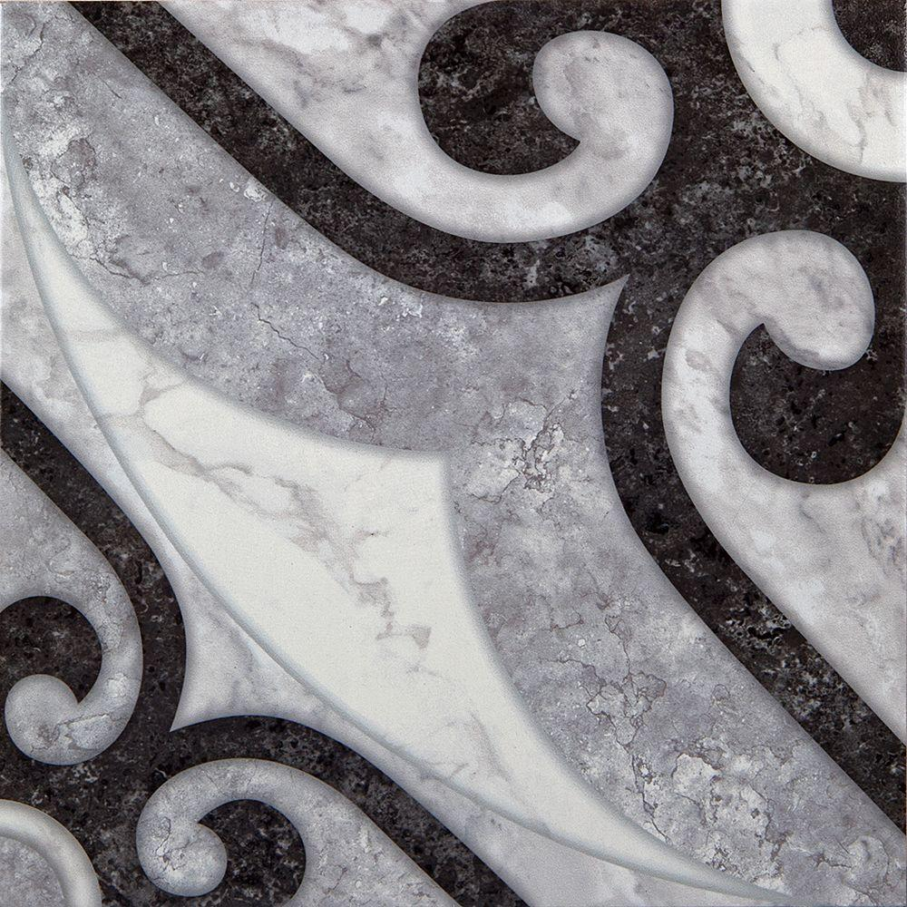 Crisa Nero 18 in. x 18 in. Ceramic Floor Tile (17.44