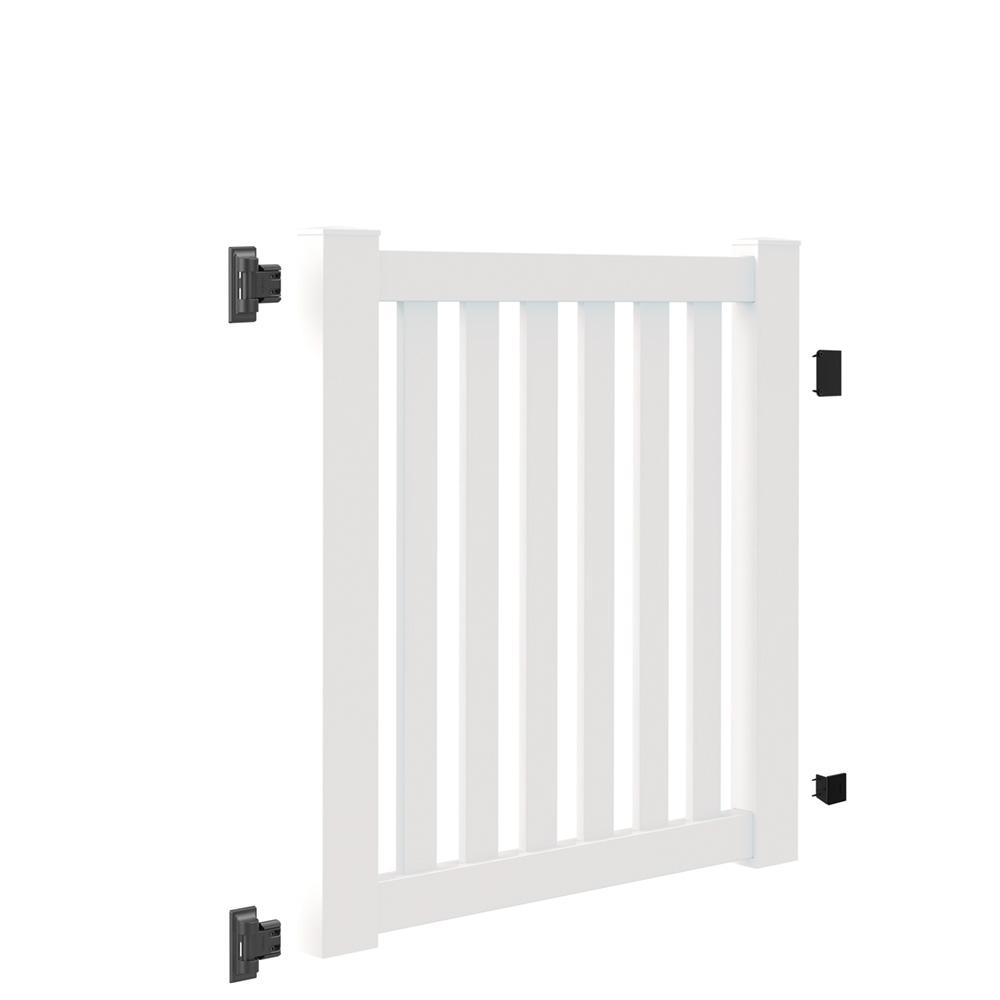 Veranda Colorado 4 ft. W x 4 ft. H White Vinyl Un-Assembled Fence Gate