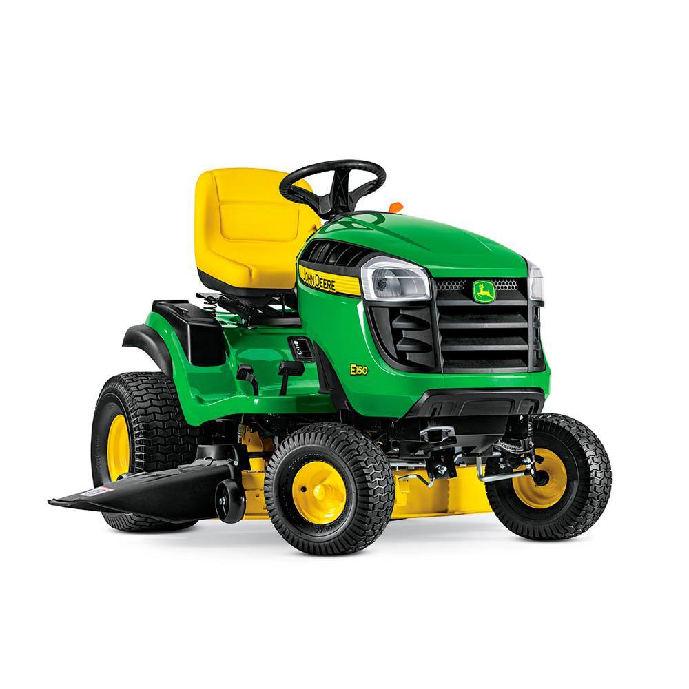 john deere e150 48 in 22 hp v twin gas hydrostatic lawn tractor