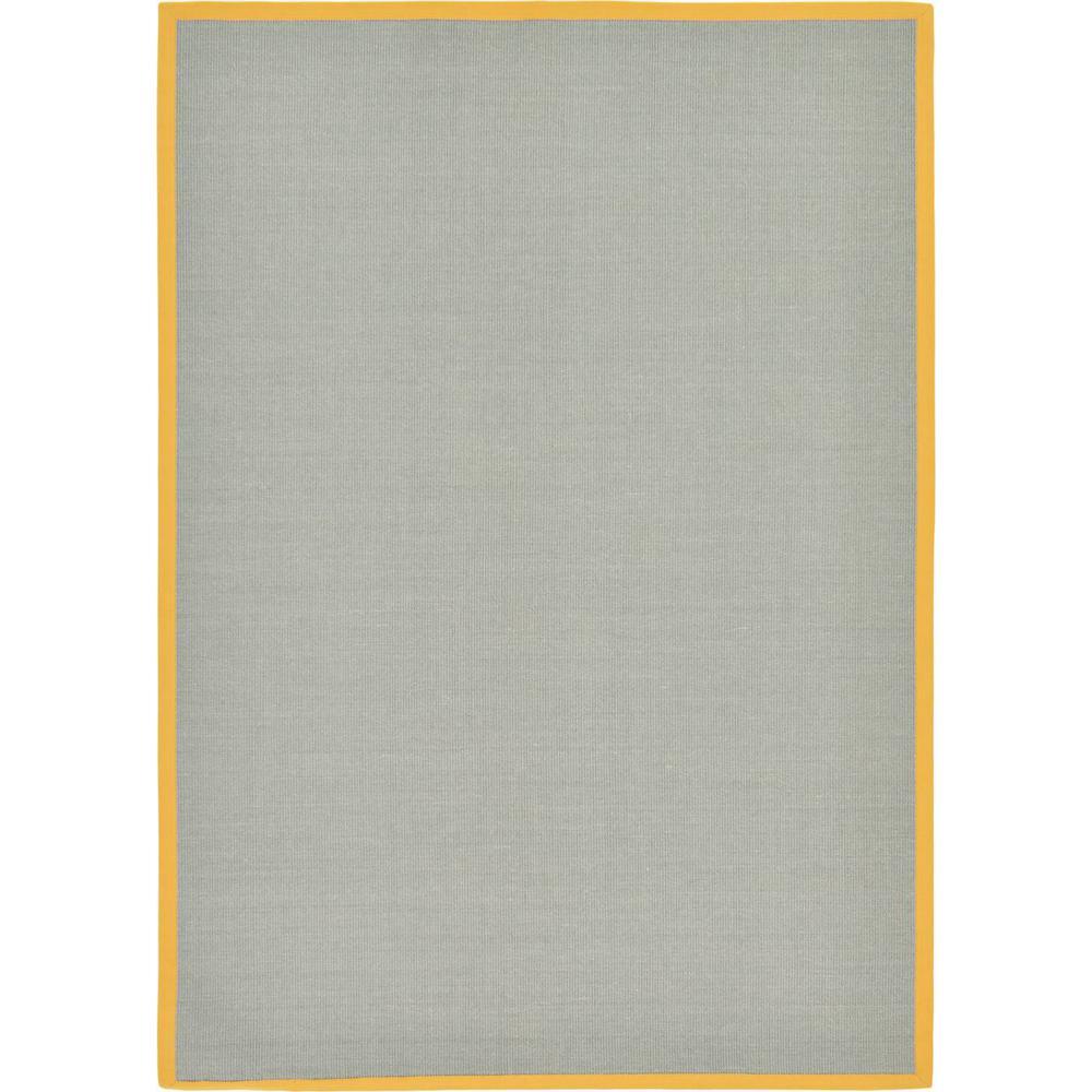 Unique Loom Sisal Sandy Light Slate Gray 7 0 X 10