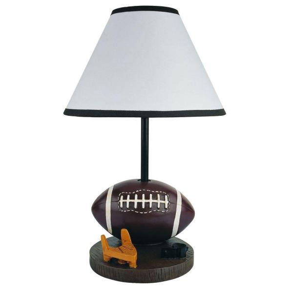 15 in. Football Brown Accent Lamp