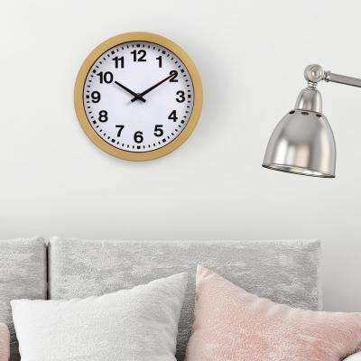 Gold Bold Numbers Wall Clock