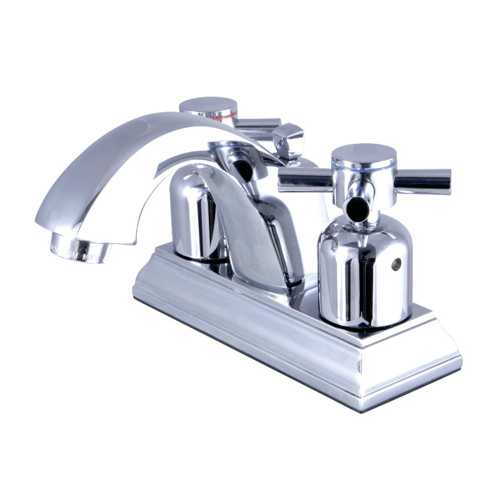 Kingston Brass Concord 4 in. Centerset 2-Handle Bathroom Faucet in Chrome