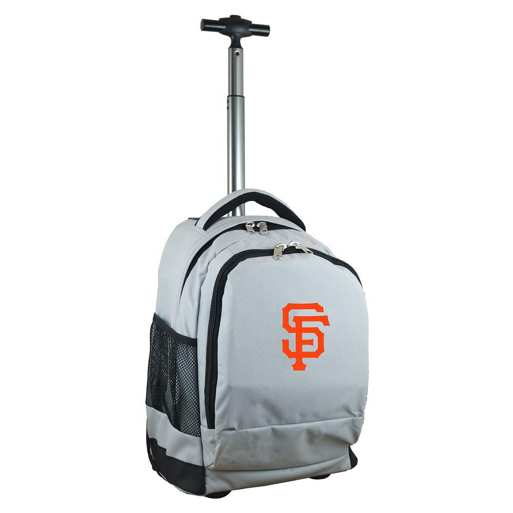 MLB San Francisco Giants 19 in. Gray Wheeled Premium Backpack