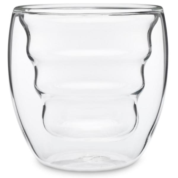 Ozeri Curva Artisan Series 8 Oz Double Wall Beverage Glasses And Tumblers Set Of 4 Dw080as The Home Depot
