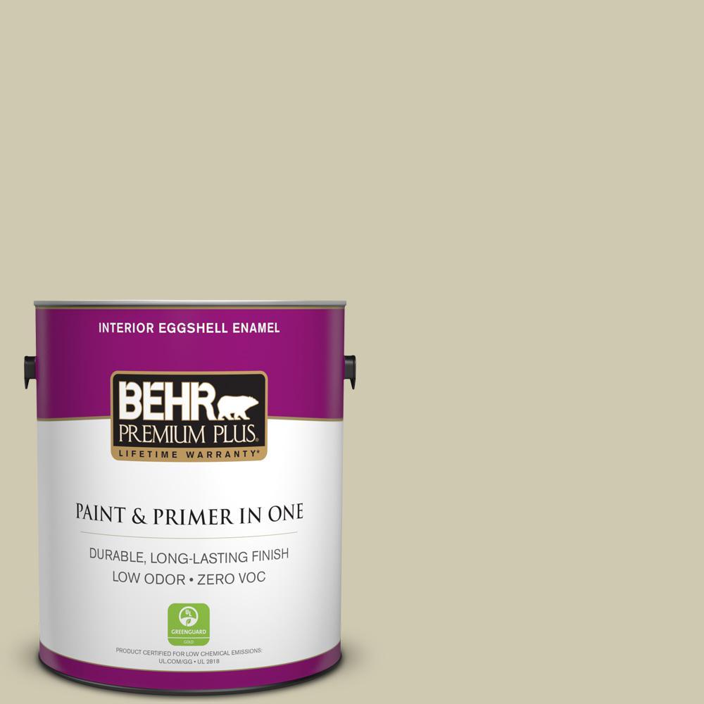 1 gal. #PPU9-18 Cilantro Cream Zero VOC Eggshell Enamel Interior Paint