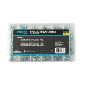 Capri Tools Metric Hydraulic Grease Fitting Assortment Set (110-Piece) by Capri Tools