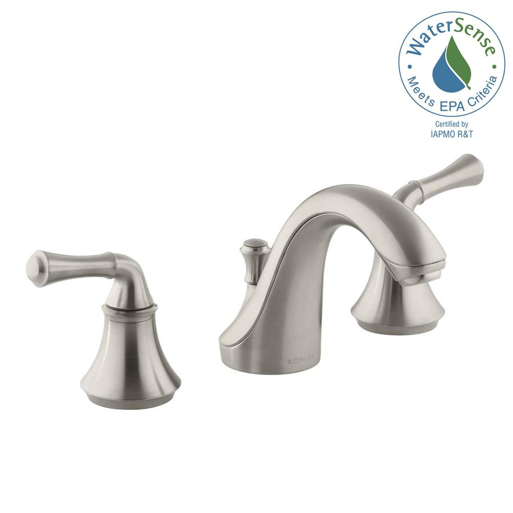 Forte 8 in. Widespread 2-Handle Low-Arc Water-Saving Bathroom Faucet in Vibrant