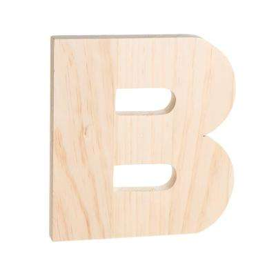 Alpha 8 in. Letter B in Unfinished Wood