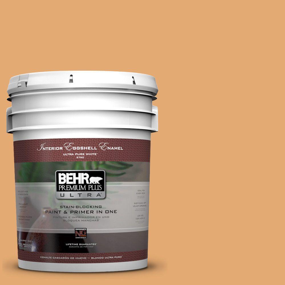 BEHR Premium Plus Ultra 5-gal. #PMD-75 Autumn Gourd Eggshell Enamel Interior Paint
