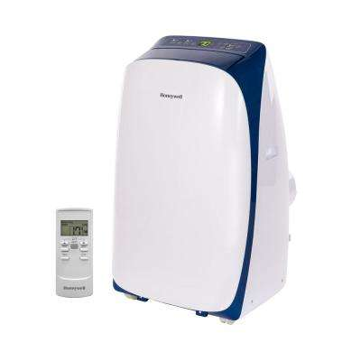 HL Series 10,000 BTU, 115-Volt Portable Air Conditioner with Dehumidifier and Remote Control in White and Blue