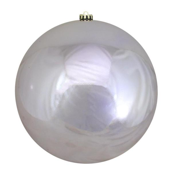 10 in. (250 mm) Orchid Commercial Shatterproof Shiny Christmas Ball Ornament