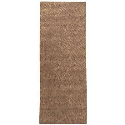 Summer Collection Solid Brown 3 ft. x 7 ft. Indoor/Outdoor Runner Rug