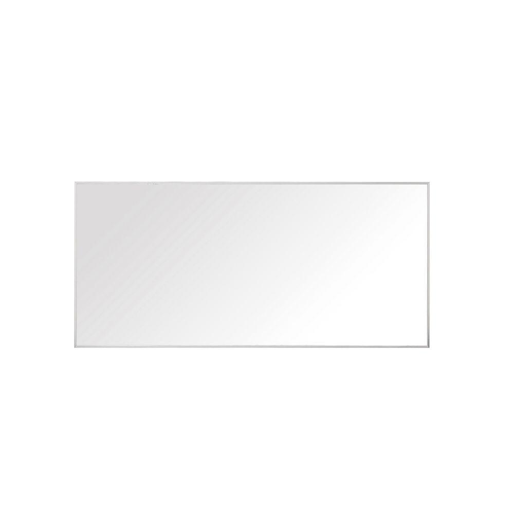 Avanity Sonoma 28 in. L x 59 in. W Framed Wall Mirror in Nickel