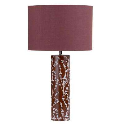 Cathrine 1 Light 21 in. Chocolate Table Lamp
