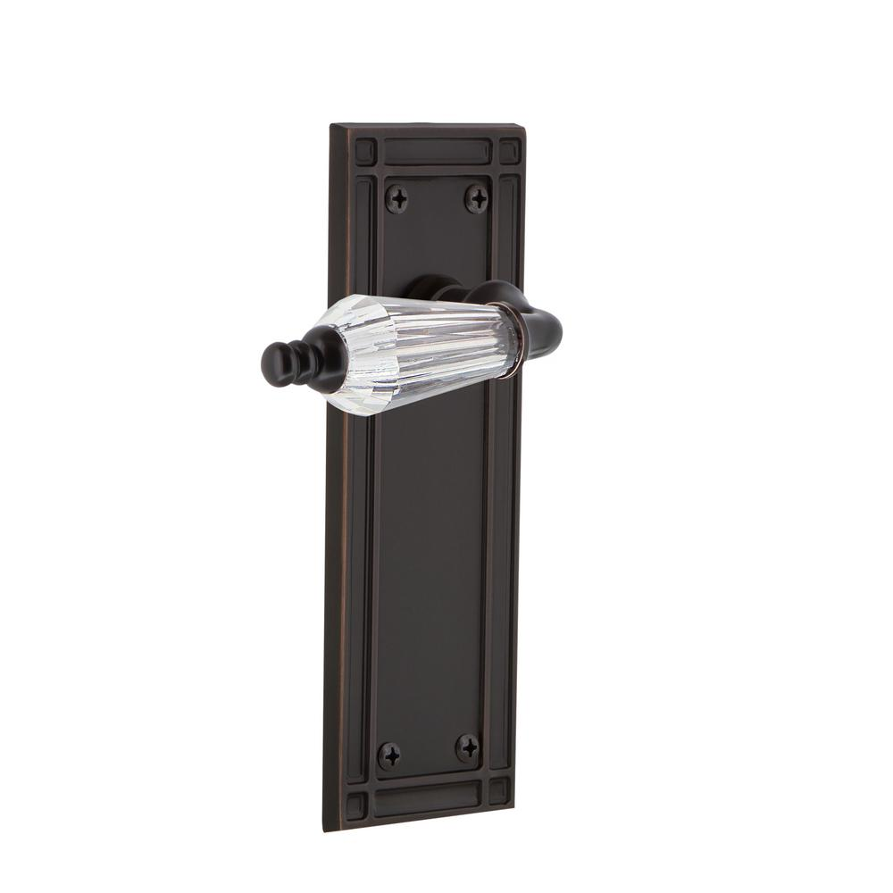 Mission Plate Double Dummy Parlor Lever in Timeless Bronze