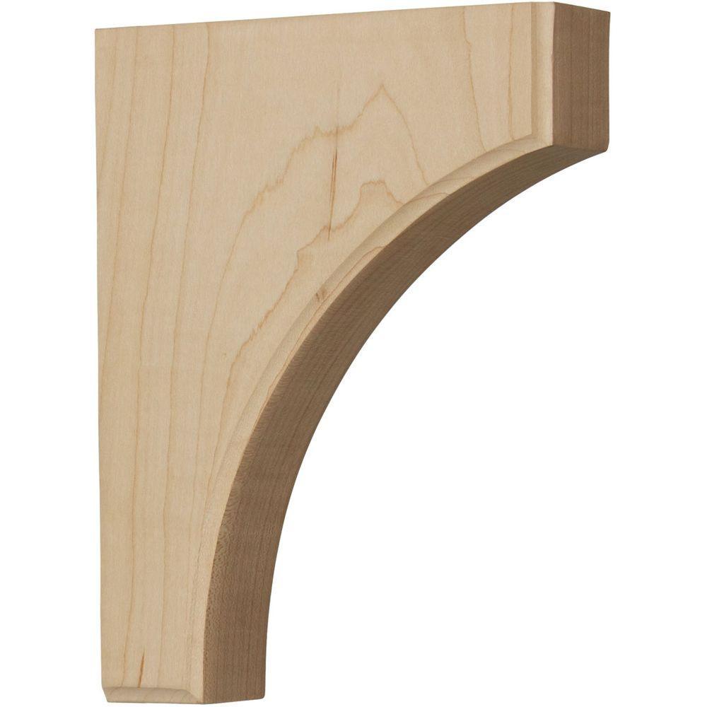 1-3/4 in. x 6 in. x 8 in. Unfinished Wood Red Oak Clarksville Corbel