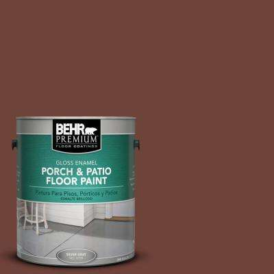 1 gal. #N160-7 Brown Velvet Gloss Porch and Patio Floor Paint