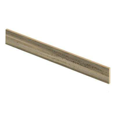 Rustic Wood 47 in. L x 1/2 in. D x 7-3/8 in. H Vinyl Overlay Riser to be Used with Cap A Tread