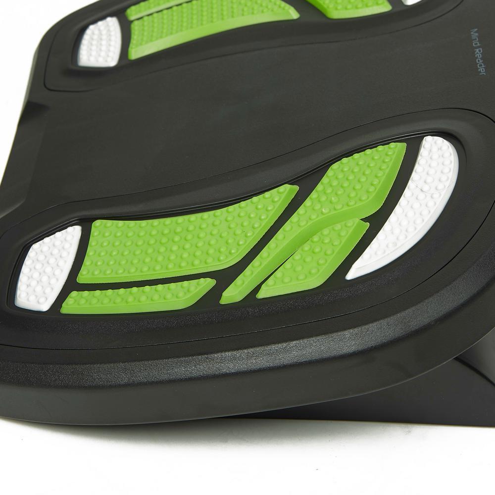 Mind Reader Black And Green Plastic Adjustable Height Non Slip Ergonomic Foot Rest Footprint Grn The Home Depot