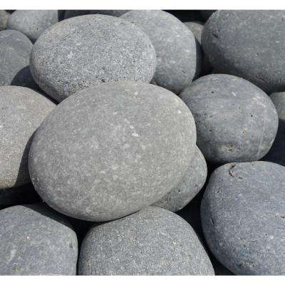 6 in. to 8 in. Black Pina Mexican Beach Pebble (2200 lb. Contractor Super Sack)